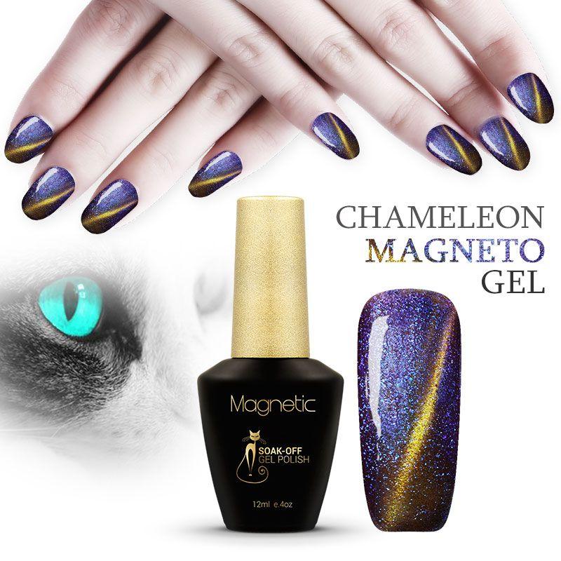 Magnetic Cat Eye Gel Nail Gel Polish Long Lasting Magnetic Uv ...