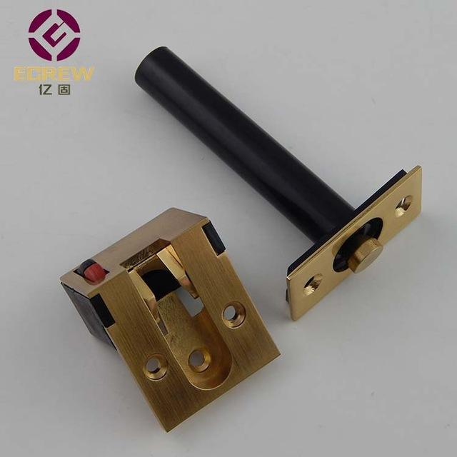 One Hundred Million Solid Concealed Door Guard Hidden Anti Theft Chain  Bright Gold Buckle Bolt Embedded Invisible Door Lock Hote
