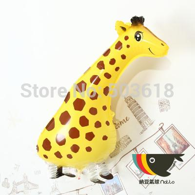 Free Shipping 50pcs/lot Design Cut Giraffe Walking Pet Balloon Hybrid Models of Animal Balloons Party Toys Gift