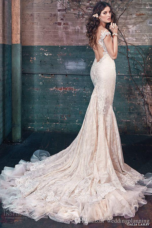 Mermaid Lace Wedding Dresses 2015 Summer Modern Luxury Bridal Wed Gowns Applique Backless Sleeveless Formal Wedding Dress Wedding Dresses For Bride