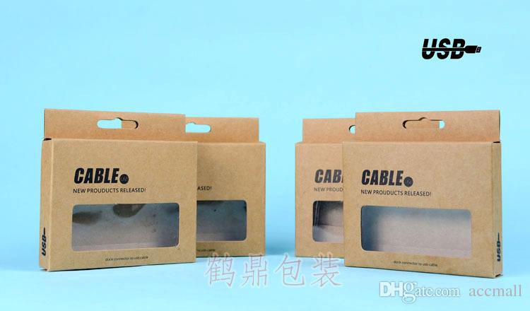Online Cheap Universal Cable Box Retro Kraft Paper Retail Package ...