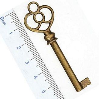 Encantos definir mix de jóias de bronze antigo chaves de metal grande pequeno diy acessórios de moda jóias para jóias pulseiras colares fazer