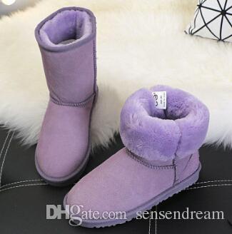 Barato Em Estoque de alta qualidade Xmas presente Meia Botas de Inverno 11 Cor Botas de Neve sexy WGG mulheres botas de neve de inverno Quente bota de algodão acolchoado sapatos