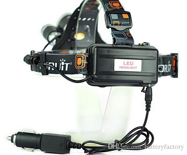 Boruit RJ-3000 Fishing Camping 5000Lm 3x CREE XM-L T6 LED Rechargeable Headlamp Bike Headlight 4 Mode +AC Car ChargerFree Shipping