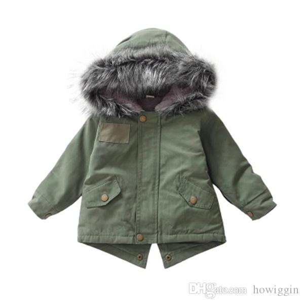 f70f9b9588a03 Baby Girls Boys Kids Clothes Jacket Winter Warm Coat Toddlers