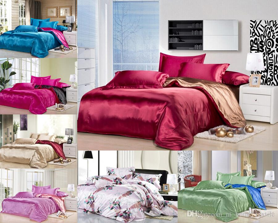 Custom Solid Color Bedding Set Wine Red Brown Two Colors