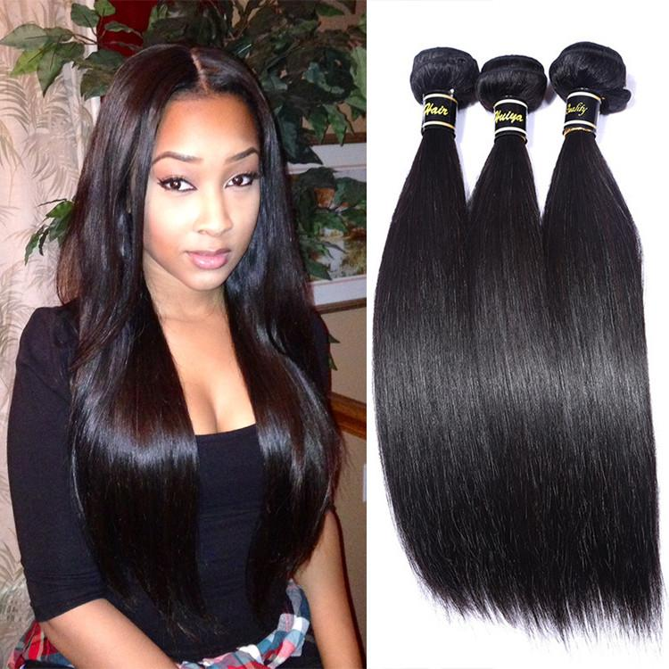 Silky Straight Double Drawn Human Hair Weftbrazilian Virgin Remy
