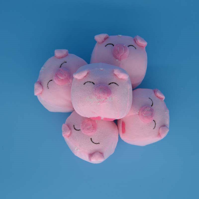 Lovely Plush Filling Big Head Pig Pink Smile Eye Pig Plush Toy Gift Cartoon Bouquet Craft Wedding Animals Plush Toys Gift