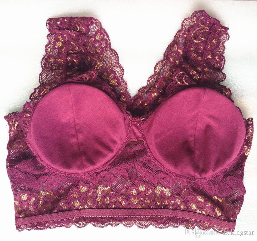 المرأة مثير الرباط سلس الصدرية للإزالة مبطن ملابس داخلية مريحة لاسلكية النوم الصدرية