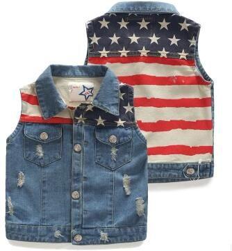 30dc5df17 Wholesale-Baby Boys Denim Vest