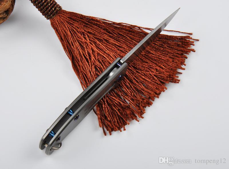 높은 품질 D2 미니 티타늄 버클 숟가락 빙 야외 캠핑 사냥 칼 칼 칼 선물 칼 무료 배송 10 개