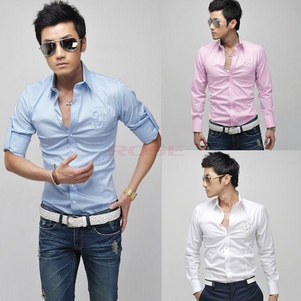 2017 Stylish Trendy 2015 Mens Shirts Casual Men'S Slim Fit Shirt ...