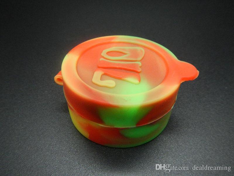 Оптовая Пищевая 10мл 22мл Восковое масло Контейнеры Силиконовые банки Dab 2 в 1 Контейнер для воска Tin Dab Пластиковые силиконовые контейнеры для воска через DHL