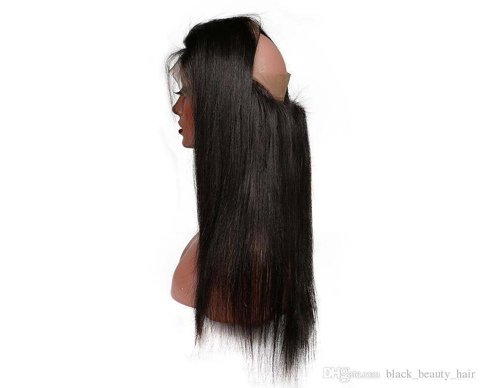 Kadoyee 360 Lace Frontal Brazilian Virgin Human Hair Closure Peruvian Malaysian Indian Human Hair Bundles No Tangles No Shedding