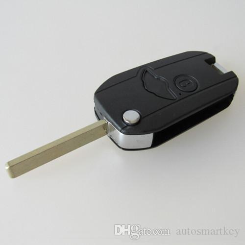 Hottest car modified key blank for BMW mini 2 button flip foding remote key shell FOB case