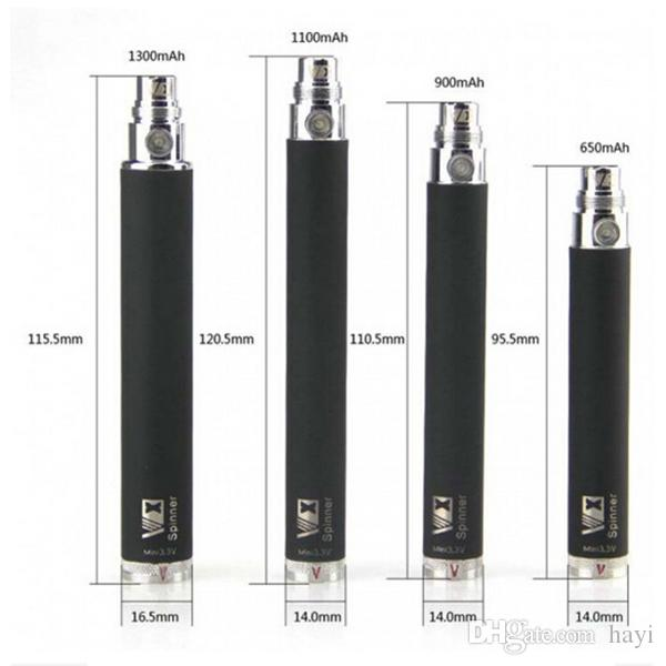 TOP Vision battery eGo Variable Voltage 650- 1300mAh ego c twist ego t battery for CE4 CE5 MT3 atomizer DHL Free