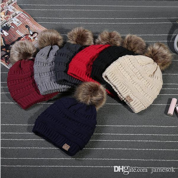 3800233a9f852 CC Beanies Cotton Ball Cap Pom Poms Winter Hat For Women Man Hat Knitted  Warm Beanies Cap C170 CC Hats Winter CC Hats Cc Beanie Online with   4.38 Piece on ...