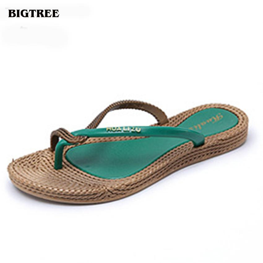 BIGTREE 2017 Summer Style Women Flip Flops Women Sandals Flip Slippers Beach Shoes 6.7 LAG