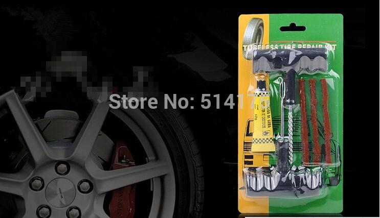 Car Bike Auto Tire Puncture Plug Repair Tool Kit For Tubeless Tyre Safety 3 Strip (11)