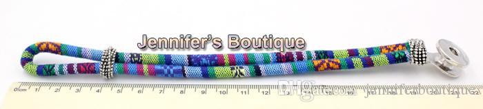 En gros livraison gratuite nouvelle arrivée 9 couleurs classique morceaux morceaux s'enclenche Bracelet de bijoux, corde de coton de Style ethnique bricolage Snaps bijoux
