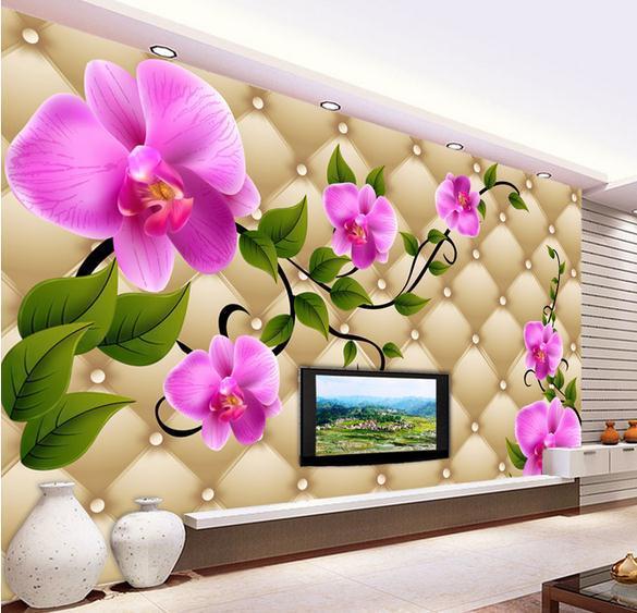 Customize Simple 3d Flowers Wallpaper Wall Sticker Wallpapers Mural Non Wvoen Factory Direct20152367 Desktop Backgrounds