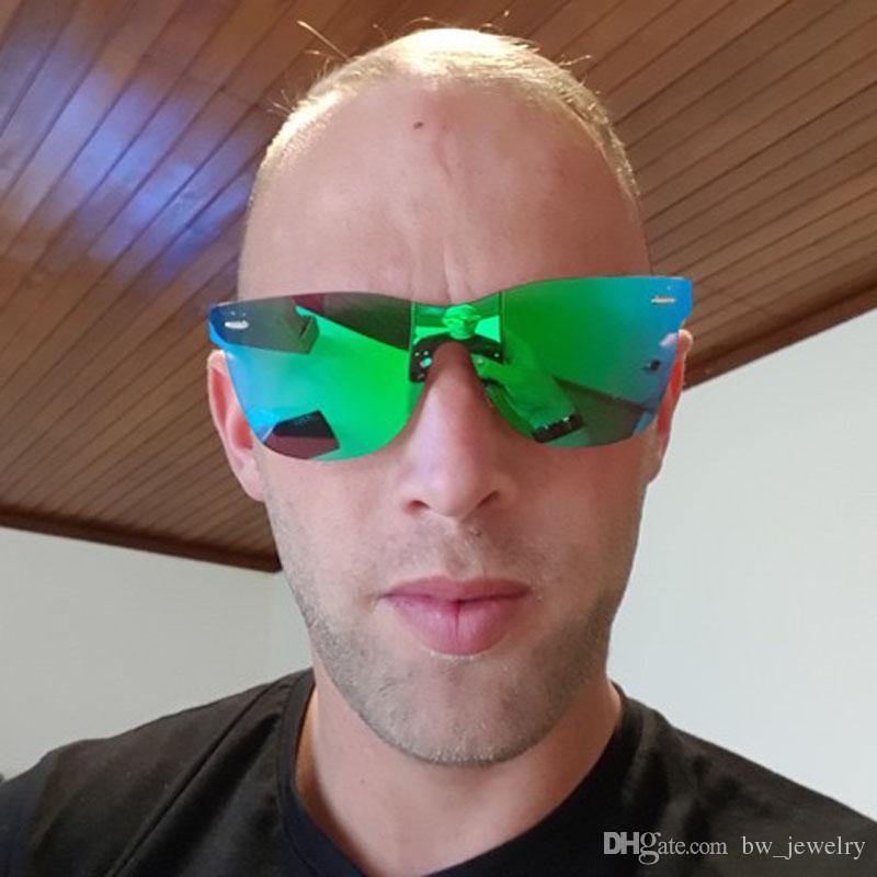 493ccdd194e Vintage Sunglasses Men Flat Lens Rimless Square Frame Mens Cool Sun Glasses  Male Oculos Gafas Top Quality UV400 Round Glasses Designer Glasses From ...