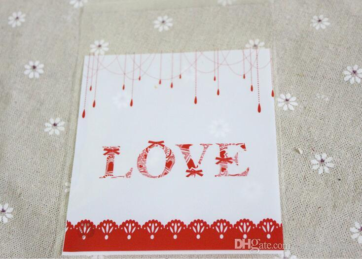 New Small Accessories Cellophane Favor Mini Bags, Self Seal Party Gift Packaging, Valentine's Day Love 10x10+3cm envelope