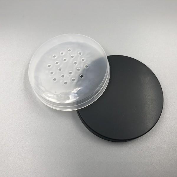 50 ml 1,66 oz Leerer wiederverwendbarer Kunststoff-lose Pulver Kompakte Flaschenbehälter DIY Makeup Pulverkoffer mit Sift- und gesäumten Schraubendeckel