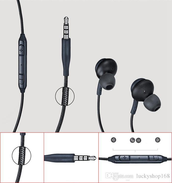 Nuove cuffie S8 auricolari auricolari neri originali EO-IG955BSEGWW auricolari vivavoce auricolari OEM Samsung Galaxy S8 S8 Plus DHL