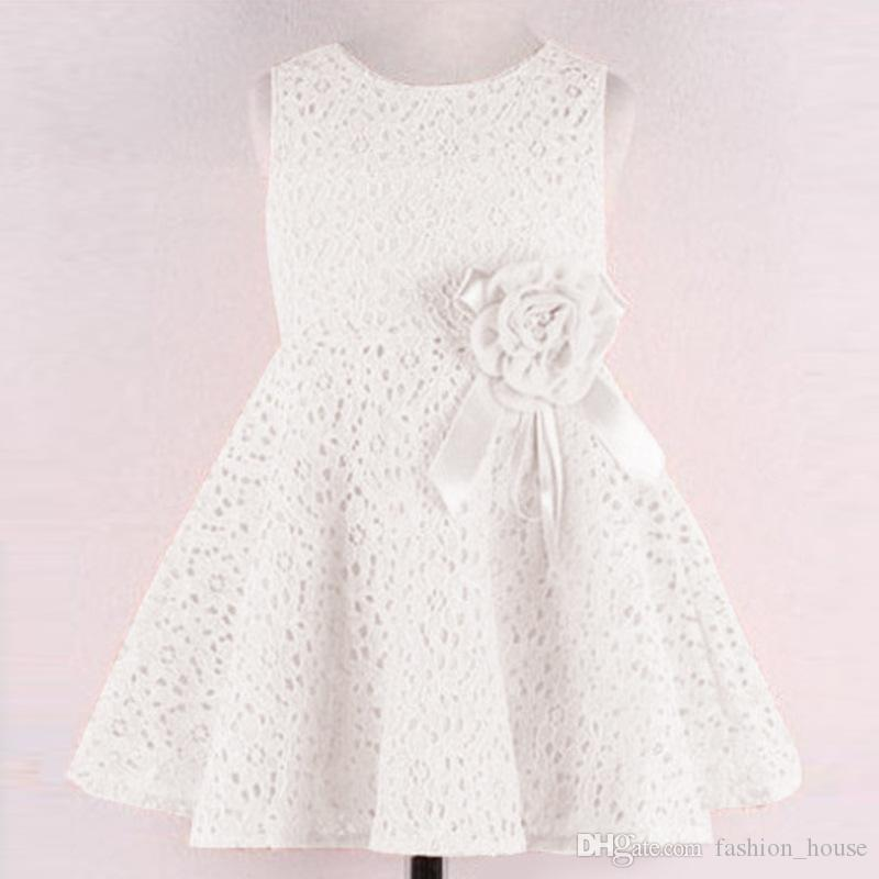 13 farben sommer mädchen spitze blume kleider kinder sleeveless prinzessin tutu kleid korea mode günstige party dress kinder dancewear a08