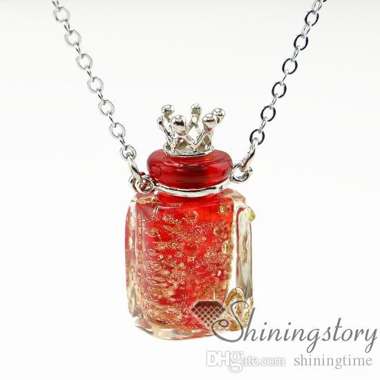 dikdörtgen aromaterapi kolye difüzör kolye difüzör aromaterapi madalyon parfüm kolye difüzör küçük cam şişeler kolye kolyeler
