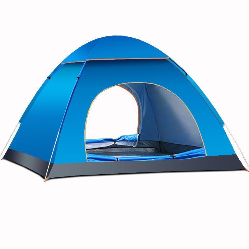 Artículos educativos BZR-MY Carpa automática hidráulica Suministros para Acampar al Aire Libre 3-4 Personas Tienda de campaña Impermeable Doble,Blue