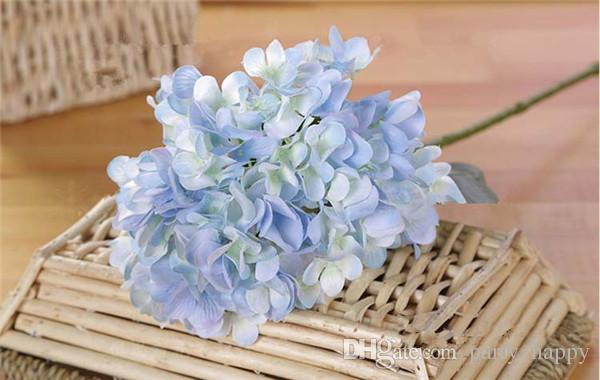 The Simulation Flower Wholesale Upscale Boutique Zadeh Fusion As Simulation Hydrangea Flower Household Adornment Artificial Silk Flower Bouq