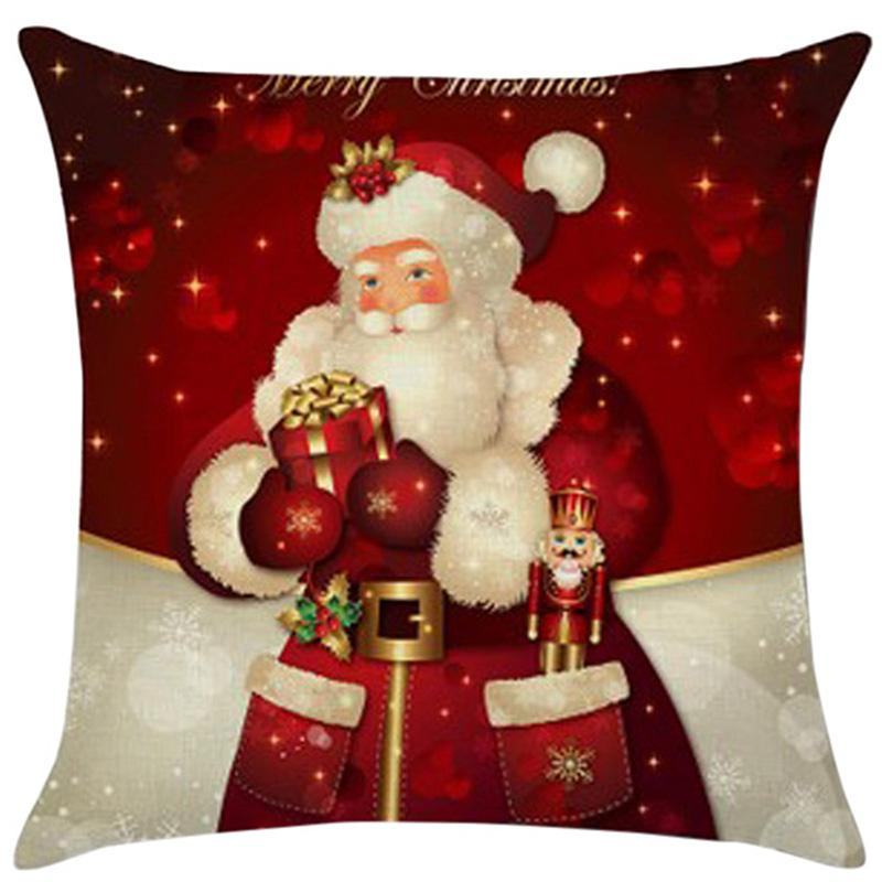 Urijk Brand 45x45 Santa Claus Cushion Cover Christmas Decorations For Home Sofa Pillowcase Chair Seat Cushions Toys Multicolor