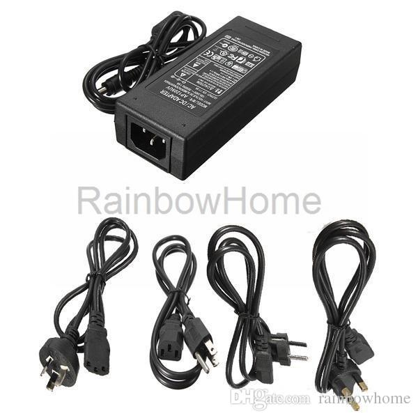 AC Power Supply Adapter DC 24V 3A 5A 6A 120W Transformer for LED Light Strip Monitor Printer + Power Cable Cord