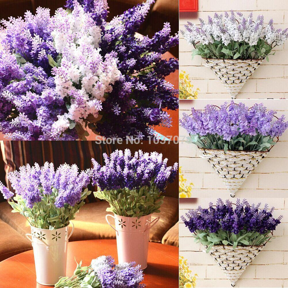 Artificial Flowers Silk Flowers Fake Artificial Lavender Silk Flower