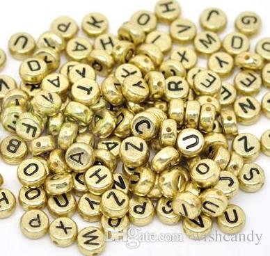 16 styles loom Alphabet Acrylic Beads Charms Bracelet Rubber Bands DIY Silicone Refills Cube Letter Beads Pendants Accessories