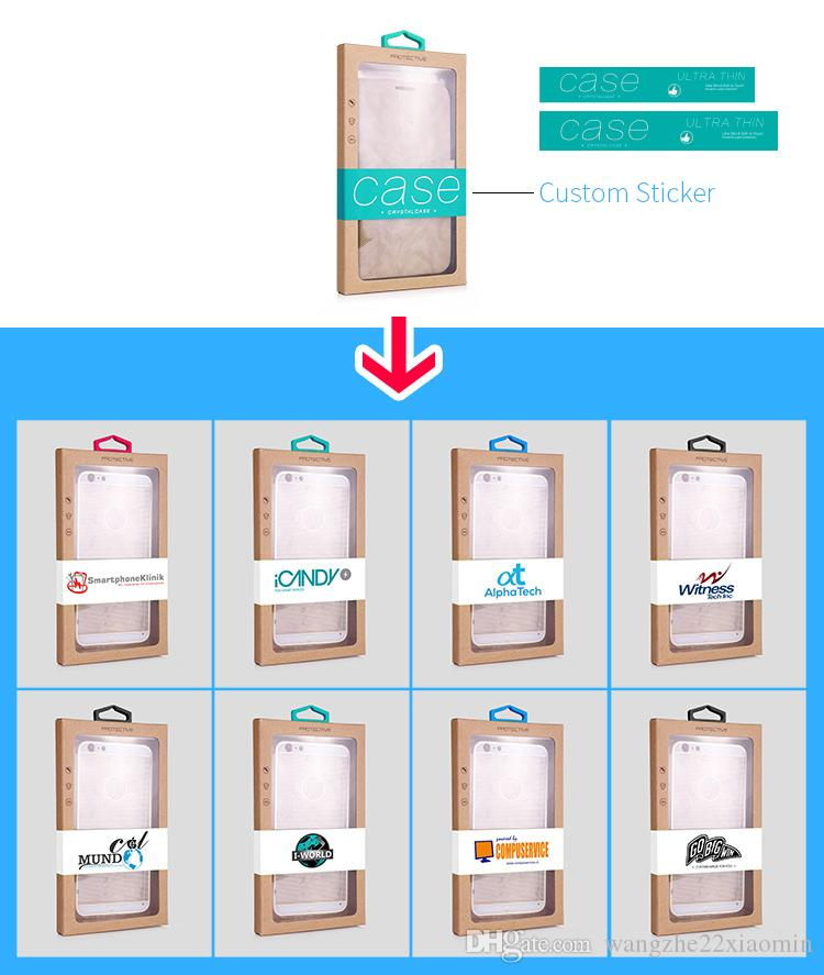 Personalised Custom Logo Retail Packaging Box Karft Paper Packing Box for iPhone 8 XS 11 Pro MAX for Samsung S20 Plus Ultra Phone Case Cover