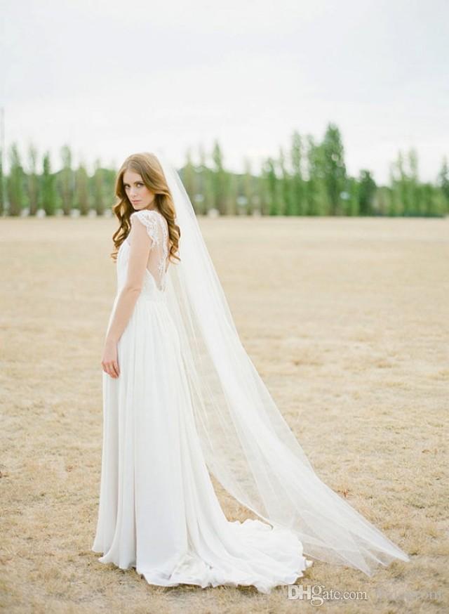 Due metri morbido accessori da sposa velo affascinante spedizione gratuita la sposa con pettini tulle bianco veli da sposa