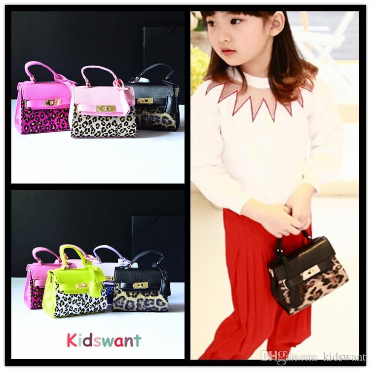 KIDSWANT Leopard Print Kid Handbag Fashion PU Leather Kids ...