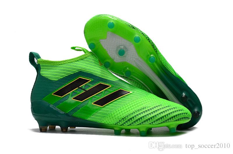 eb4b964599f5 2019 Many Color Lace And Laceless ACE 17+ PureControl FG Cheap Indoor  Soccer Shoes Football Boots High Top Mens Soccer Cleats From  Top soccer2010