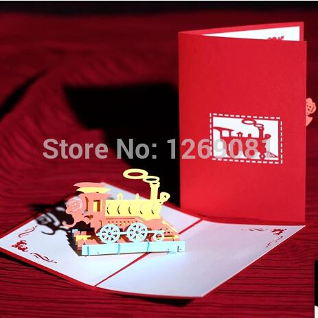 Fashion cute boys girls 3d pop up handmade paper greeting train card fashion cute boys girls 3d pop up handmade paper greeting train card for birthday kids gift birthday greetings cards birthday online cards from tofootball m4hsunfo