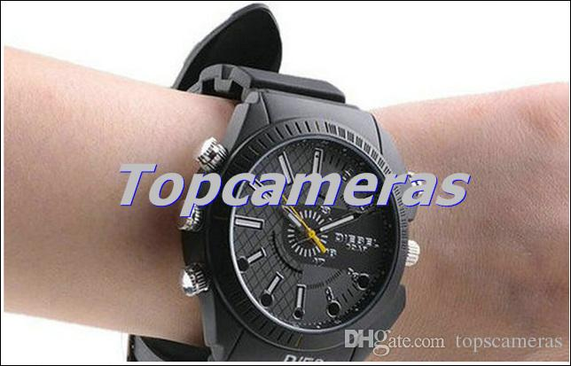 Waterproof 1080P 8GB watch camera with IR Night Vision W3000 Full HD watch DVR pinhole camera mini camcorder