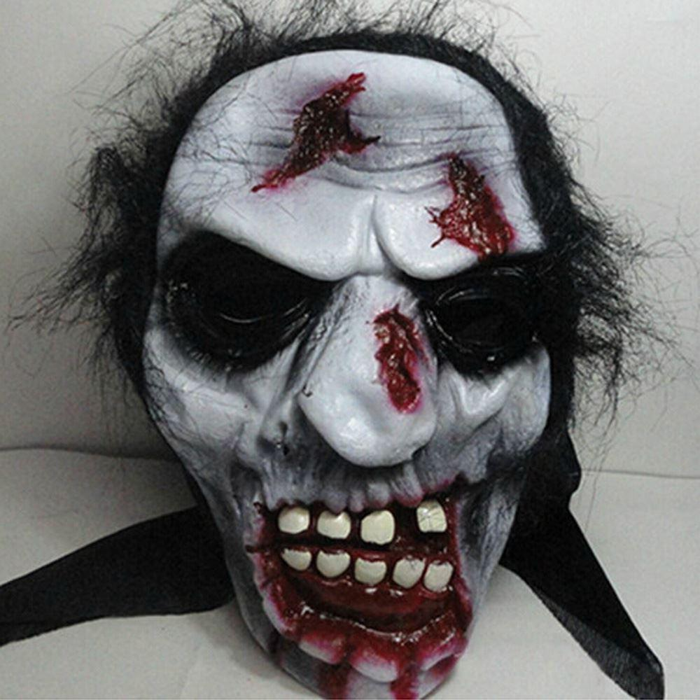 Halloween Full Face Mask Cosplay Scary Ghost Mask Prank Prop For ...