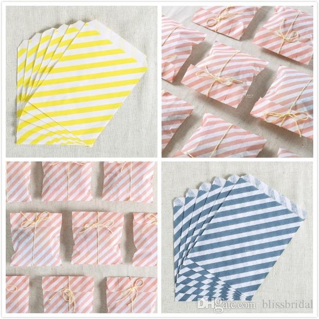 Wholesale -  5 patterns colourful Favor paper Bags, snack bag, Party Food Paper Bag 17.8x12.tableware