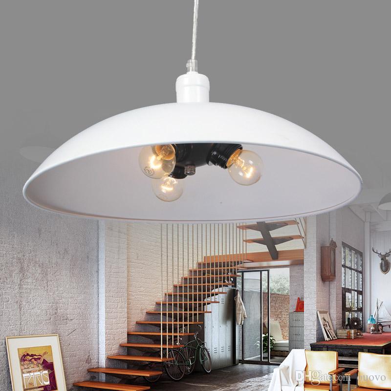 Danemark Diamètre 43 cm Peint En Fer Salle À Manger Suspension Lampe Shiping Libre Style Industriel Moderne Balcon Suspension Lumière Chambre Suspension Lampe