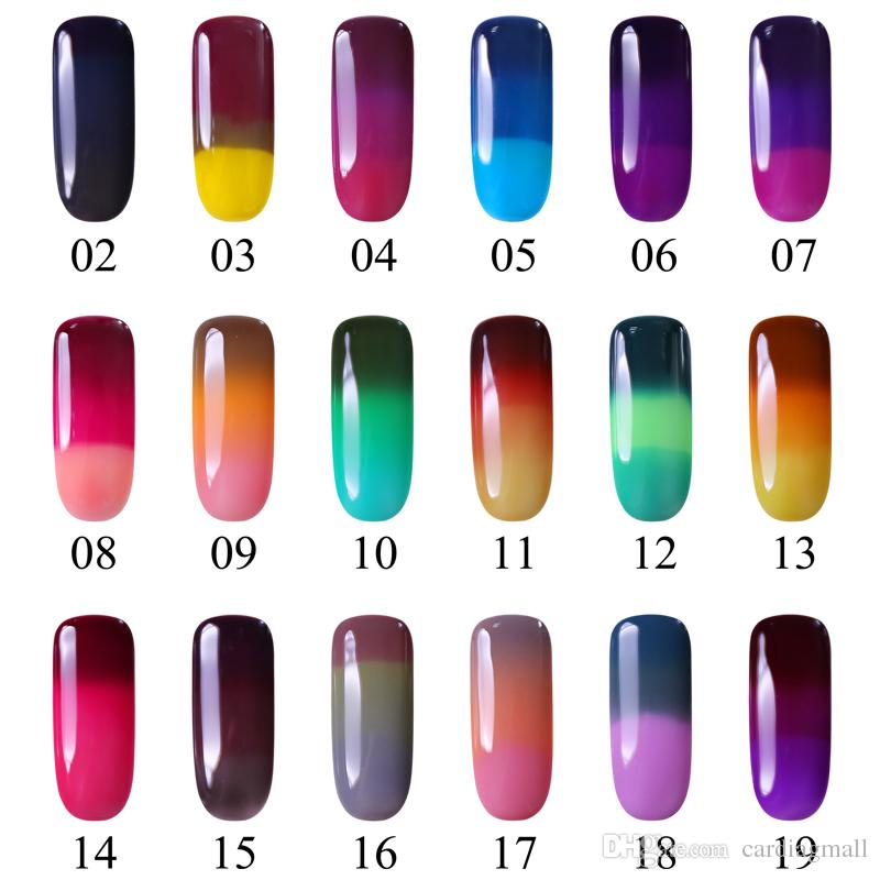 NEW Nail Manicure Care Magic Three-color Changing Temperature Gel UV ...
