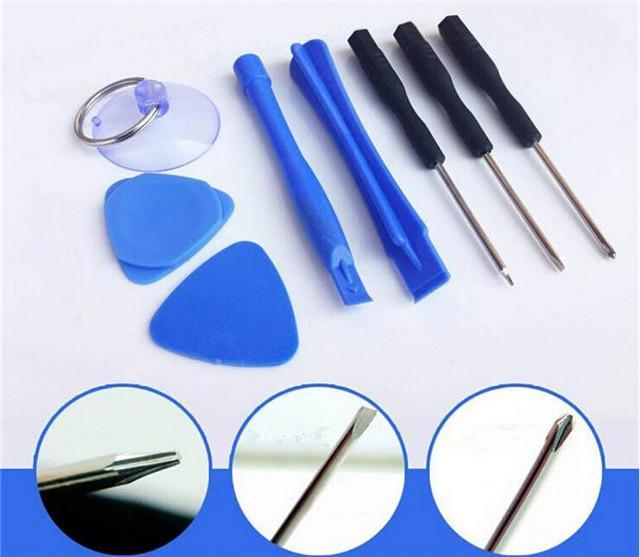 Haute Qualité 8 en 1 Ouverture Outil Tournevis Sucker Pry Réparation Ouverture outils kits ensemble pour iPhone 4 4S 5G 5S 5C 6 6 Plus livraison gratuite