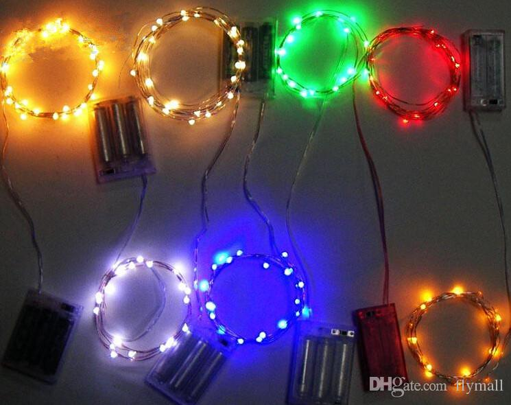 2M 3M 4M LED Battery Strings 5M 10M Mini LED Copper Wire String Light AA Battery Operated Fairy Party Wedding Flashing LED Christmas String