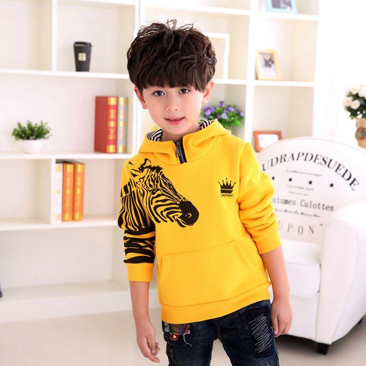 acda0fc90 Kids Boys Winter Models Korean High Zipper Tie Cap Plus Velvet ...